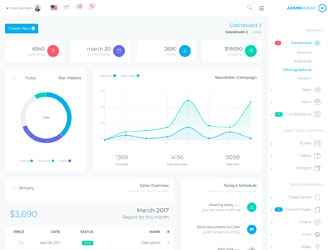awesome bootstrap rtl admin dashboard theme