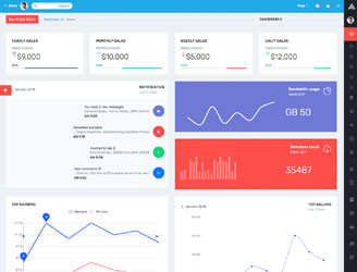 bootstrap rtl admin dashboard template