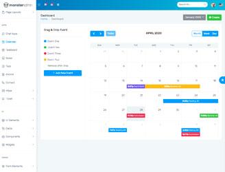 bootstrap calendar application design template