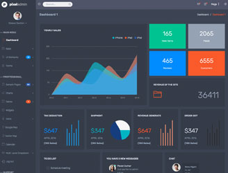 best bootstrap 3 dark color admin theme