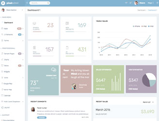 bootstrap pastel color dashboard theme