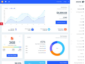 react redux rtl admin dashboard template with hooks