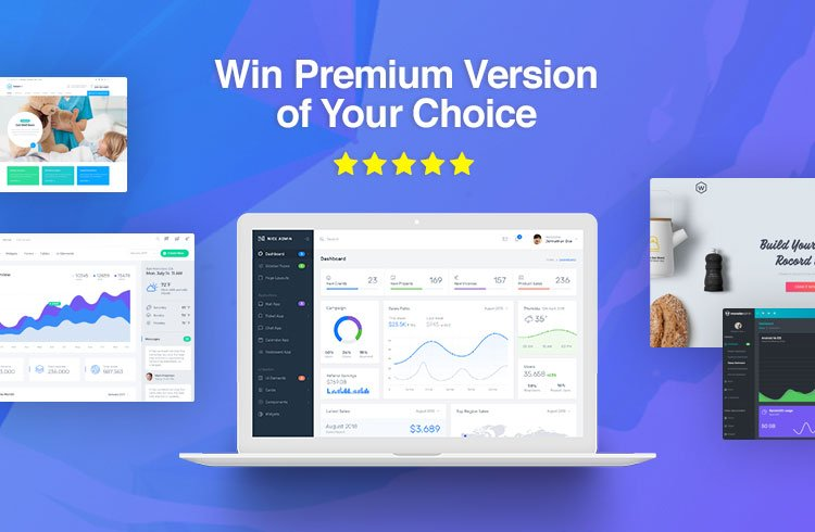 Write Review about our Templates & Get Chance to Win Premium Template of your Choice.