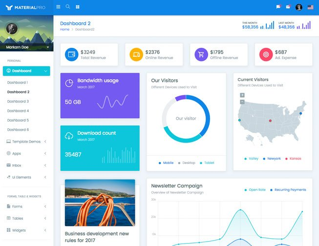 MaterialPro Bootstrap Admin
