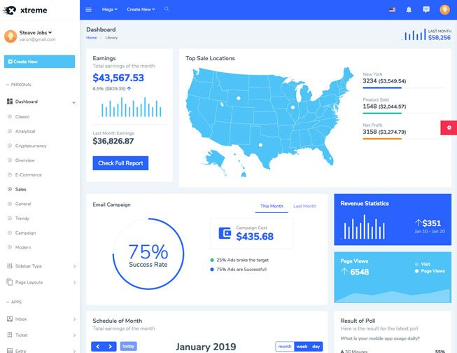 The Best 20 Free Bootstrap Admin Dashboard Templates for