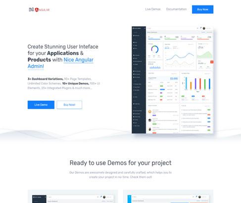 Nice Admin Angular - Best Angular 8 Dashboard Template